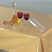 Clear Heavy Duty Plastic Tablecloth - Restaurant Quality Vinyl Table Cover Protector (52