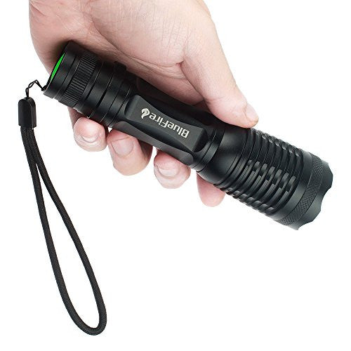 Blue Fire 1200 Lumen Super Bright Cree Xm L2 Led Handheld Flashlight With Adjustable Focus And 5 Ligh