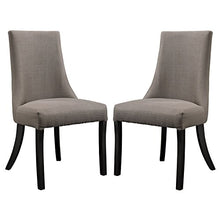 Modway Reverie Parsons Dining Side Chairs in Gray - Set of 2