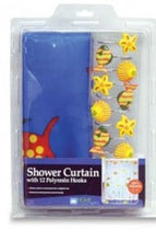 Home Collections Fish Themed Shower Curtain w/Matching Hooks