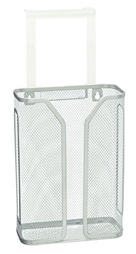 Deco Bros Over The Cabinet Door Bag Holder, Silver