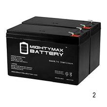 Mighty Max Battery 12 V 7.2 Ah Battery Replaces Bosch Fdp 7024 Fire Control Panel   2 Pack Brand Produ