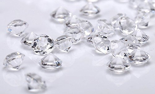 Jollylife 800 Diamond Table Confetti Wedding Bridal Shower Party Decorations 4 Carat/ 10mm Clear