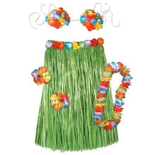 Child Hula Outfit Set Includes: Skirt, (Bikini Top, Wristlets/Anklets, Lei) Party Accessory  (1 count) (1/Pkg)