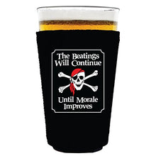 Coolie Junction The Beatings Will Continue Funny Pint Glass Coolie Black
