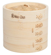 Helen's Asian Kitchen 97080 Food Steamer With Lid, 6 Inch, Natural Bamboo