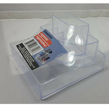 Clear Makeup Beauty Organizer for Vanity Office Desk Multi Use Storage Compartment Holder C01