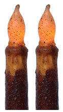 Burnt Mustard 6 Inch Taper Candle with Timer, 2 Pack