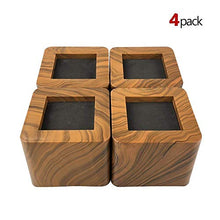 Aspeike The New Upgrade 3 Inch Bed And Furniture Risers 4 Packs Square Heavy Duty Bed Lifts   Lifts