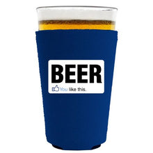 Coolie Junction You Like Beer Pint Glass Coolie Royal Blue