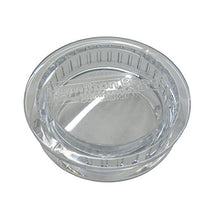 Clear center cap for the lid of Hamilton Beach blender jars.