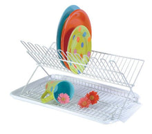 Better Houseware 34880 Folding Dish Drying Rack and Drain Board 2-Piece Set, 18