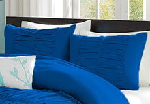 SCALABEDDING 100% Egyptian Cotton 500 Thread Count Center Gathered Mimi Ruffled Pillow Shams Euro/Square/Continental/European Solid Royal Blue