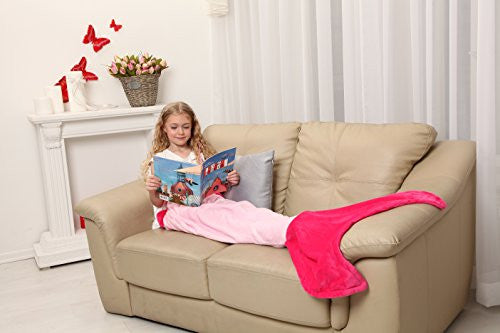Mermaid Tail Blanket   Soft And Warm Polar Fleece Fabric Blanket By Cuddly Blankets For Kids And Tee