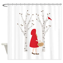 HANHAOKI Red Riding Hood Shower Curtain Liner 36