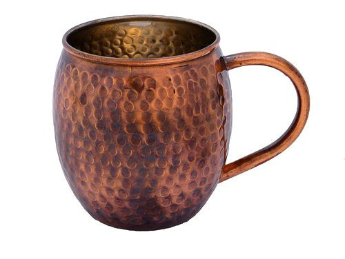 Hammered Copper Mug With Antique Finish   Perfect For Moscow Mules   Copper Cup By Alchemade   16 Oz