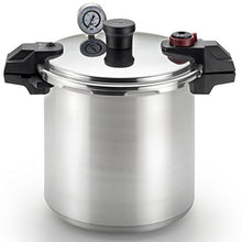 T Fal Pressure Cooker, Pressure Canner With Pressure Control, 3 Psi Settings, 22 Quart, Silver