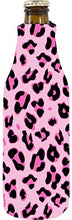 Coolie Junction Leopard Print Beer Bottle Coolie (Pink)