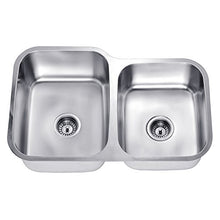 Daweier ES301816R Sink Double Bowls with Small Bowl on Right, 18 Gauge