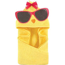 Hudson Baby Animal Hooded Towel, Cool Chick, Yellow