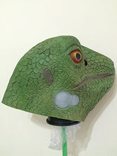 Green Lizard Full Head Latex Mask Christmas Easter Cosplay,Halloween