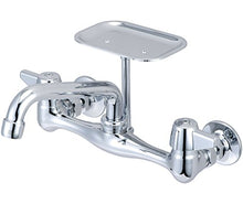 Central Brass 0048-UA 2-Handle Wall Mount Kitchen Faucet, Chrome