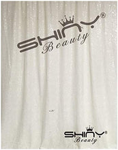 ShinyBeauty Sequin Backdrop-White-50x63-Inch,Glitz Backdrop,Sparkle Chic Curtain,Photo Prop Background
