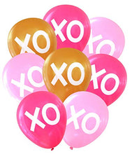 Nerdy Words XOXO Hugs & Kisses Balloons (16 pcs) (Pinks & Gold)