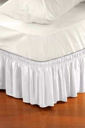 Home Details Dust Ruffle Bed Skirt, Queen/King, White