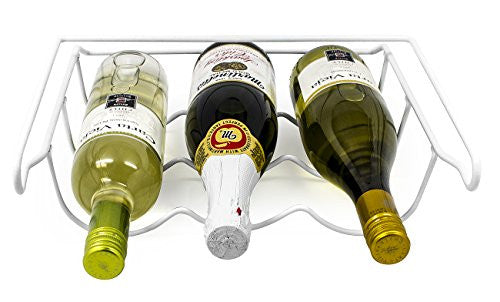 Sorbus Fridge Wine Rack  Refrigerator Bottle Rack Holds 3 Bottles Of Your Favorite Wine Or Drink Uni