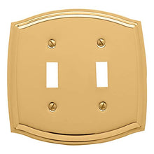 Baldwin Estate 4766.030.CD Colonial Double Toggle Wall Plate in Polished Brass, 5.1