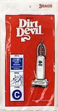 3 Genuine Royal Dirt Devil Type C Vacuum Bags OEM