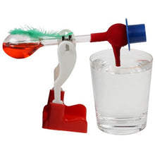 Novelty Glass Drinking Dipping Dippy Bird Toy Red (Random Liquid Color)