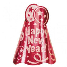 Amscan International Happy New Year Red Foil Hats (24 Pack)