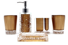 Hot San Resin 5 Pieces Bathroom Accessory Set - Ice Crystal in Gold Design Ensemble,Bathroom Vanitie