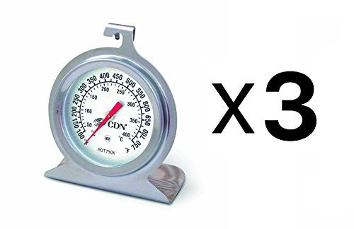 Cdn Pot750 X High Heat Oven Thermometer (Pack Of 3)