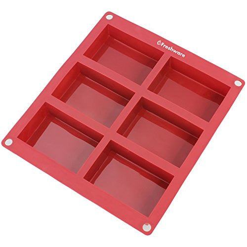 Freshware Sp 100 Rd 6 Cavity Rectangle Premium Silicone Soap Bar And Resin Mold