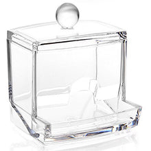 Cozhome Clear Acrylic Cotton Swab Box Case / Cotton Ball Storage / Q Tips Makeup Pads Holder / Cosme