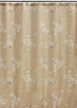 Creative Bath Products Inc. S1063NAT Silk Flowers Shower Curtain, Off-White