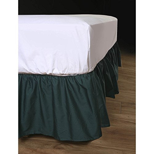 Ruffled Bedskirt (King, Black) 18 Inch Bed Skirt With Platform, Wrinkle And Fade Resistant   By Harm