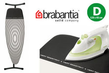 Brabantia Titan Grey Oval D Ironing Board Cover With Heat Resistant Parking Zone   53