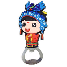Kylin Express Chinese Peking Opera Characters Beer Bottle Opener Fridge Magnets, B