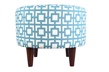 MJL Furniture Designs Sophia Collection Fabric Upholstered Round Footrest Ottoman with Round Espress