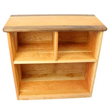 Camden Rose Simple Bookcase, Cherry with Walnut Accents, Two Shelves