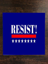 Resist Quote Blue Background One Piece Premium Ceramic Tile Coaster 4.25