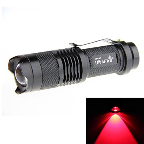 Bestsun 3 Pack Red Light Flashlights, 300 Lumens 3 Mode Mini Black Shell Portable Red Led Tactical F