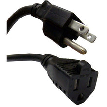 Power Extension Cord, Black, NEMA 5-15P to NEMA 5-15R, 13 Amp, 16 AWG, 10 foot