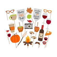 BinaryABC Thanksgiving Happy Fall Yall Photo Booth Props,Thanksgiving Party Decorations,Harvest Party Decoration 26Pcs