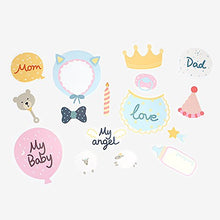 DAILYLIKE Photo Props - Photo Booth Props DIY Kit (Baby shower - 1 Pack)