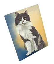 Turkish Angora Cat Art Portrait Print Woven Throw Sherpa Plush Fleece Blanket (50x60 Fleece)